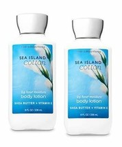 Bath and Body Works 2 Pack Sea Island Cotton Super Smooth Body Lotion 8 Oz - $37.43