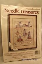 Needle Treasures Counted Cross Stitch Kit Historic Lighthouses NIP #02664 - $10.39