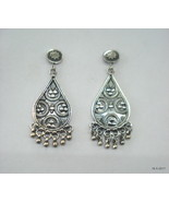 Traditional Design Sterling Silver Earrings Stud Earrings Ethnic Earrings - $95.04