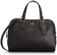 COACH Women's Refined Grain Leather Mini Nolita Satchel LI/Black Satchel - £155.11 GBP