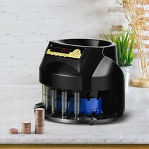Auto Coin Sorter Dispenser Counting with Coin Tubes & LED - $262.16