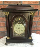 Bombay Belmont Clock Cherry Wood Quartz Mantel Storage Cabinet *not work... - $49.50