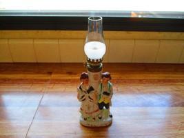 Vintage Pottery Victorian Couple Figural Mini Oil Lamp ~Mint~ - $24.74