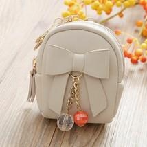 Tasche Schlüsselanhänger Damen Leder Mini Schleife Lang Perlen Anhänger ... - $13.36