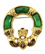 Vintage Sold 'Or Miracolo Celtico Irlandese Irlanda Claddaugh Pin 4.4cm ... - $53.98