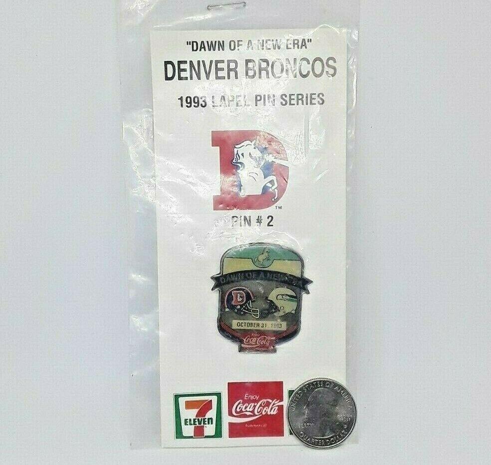 Classic 1993 NFL Football Lapel Hat Pin - Denver Broncos vs Seattle Seahawks image 4