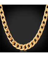Necklaces Platinum/Rose Gold/18K Gold Plated Curb collar N755 - $23.99+