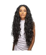 Style Plus Human Hair Blend Lace Front Wig Cross Part Lace Curly [Vixen ... - $51.03