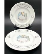 "Set of 4 Fredrick Warne & Co 93 Wedgewood Peter Rabbit Plates 7"" Sick In... - $34.64"