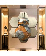 BB-8 Star Wars Wall Art Painting Canvas Poster Print Decor Hexagon 7 Pan... - $94.99+