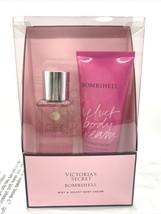 Victoria Secret BOMBSHELL Fragrance Mist & Velvet Body Cream Gift Set ~O... - $24.66