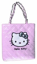 NEW Sanrio Hello Kitty Pink Evening Purse CoCo Quilted Face Patent Leather NWT image 1