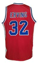 Julius Erving #32 Virginia Squires Aba Retro Basketball Jersey New Red Any Size image 2