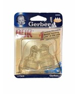 1 pack of 2 Gerber Nuk Nipples Silicone medium flow silicone 02556 - $23.28