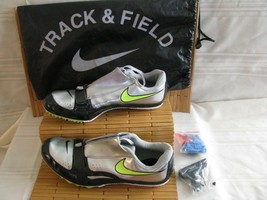 Nike Zoom Rival Track Field Shoes Men's Size 10 Metallic Silver Lime 429986-070 - $29.93