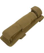 Coyote Brown Long MOLLE Holder for Baton Pouch Bottom Hook And Loop Web ... - $12.99