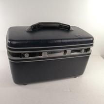 Vintage Dark Blue Samsonite Makeup Cosmetic Case Carry-On No Key Made In... - $29.99