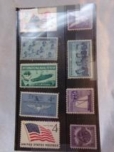 9 Vintage NAVY USPS Stamps US Postal Set Walt Disney Corp - $8.60