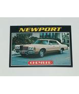 1976 Topps Autos of 1977 Chrysler Newport Car Card #27 VG-EX Condition - $15.82
