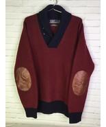 Polo Ralph Lauren Mens 2XL Merino Wool Blend Shawl Collar Sweater Elbow ... - $66.82
