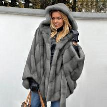 New Winter Fashion High Quality Thick Imitation Thick Mink Fur Coat image 2