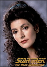 Star Trek: The Next Generation Commander Deanna Troi Portrait Magnet, NEW UNUSED - $3.99