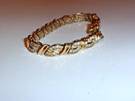 "14K Yellow Gold White Diamond Round Tennis Bracelet, I1-I2, 7""L, 5.00(CW) 24.3GR - $1,750.00"
