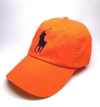 NEW MEN'S POLO RALPH LAUREN BIG PONY ORANGE LEATHER STRAP SPORT BASEBALL... - $39.00
