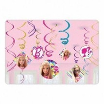 Barbie Foil Swirls - Birthday Party Needs Decoration (12 Pack), Multi Co... - $15.99