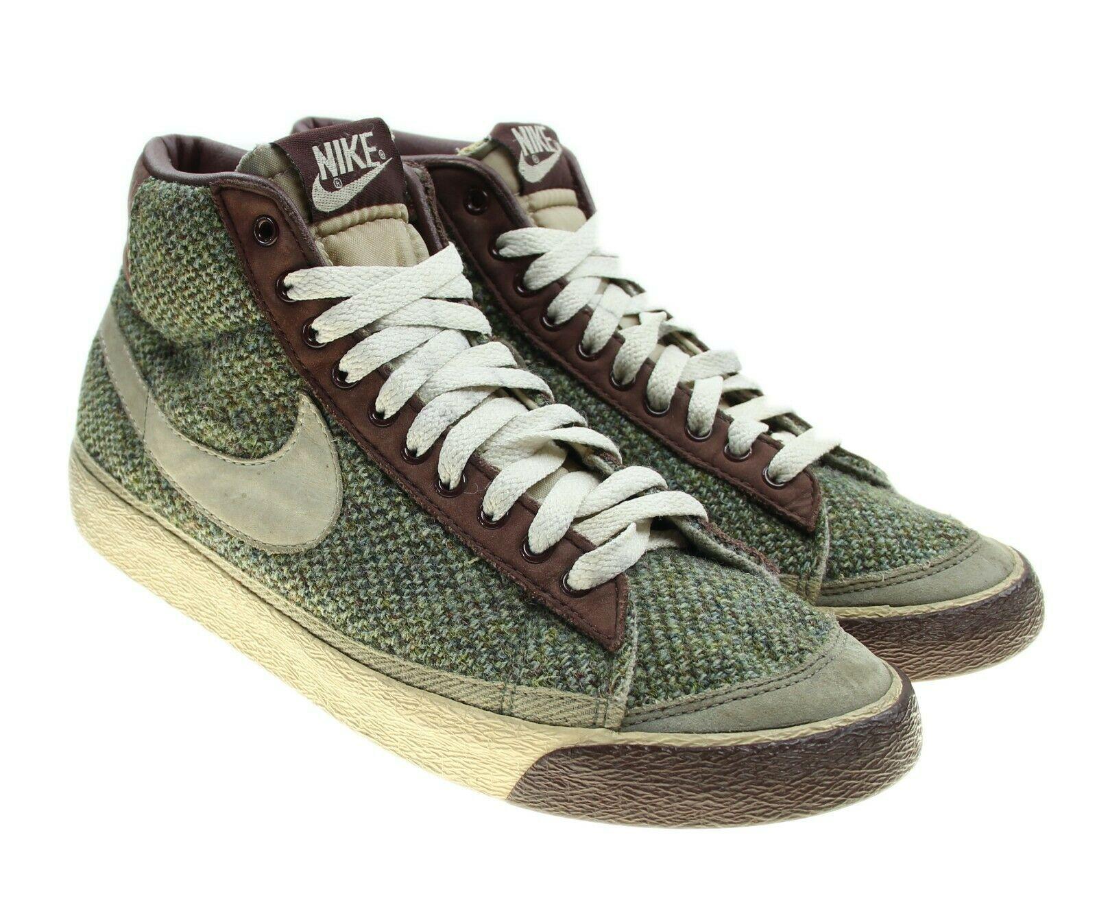 Vintage Nike Blazer Sneakers Swoosh Shoes Harris Tweed Womens Size 8.5 Mens 7