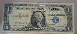 1957A Star Note $1 One Dollar Bill Silver Certificate Note BLUE SEAL.*30... - $2.95