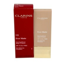 Clarins Ever Matte Skin Balancing Foundation SPF-15 OIL-FREE 30ML #113 Chestnut - $32.18