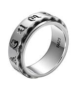 Vintage Six Words Mantra Spinner Ring 925 Sterling Silver Mens Signet Ring - $37.99