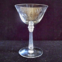 Fostoria Set of 4 Tall Crystal Champagne Goblets in the Beacon Cutting - $12.00