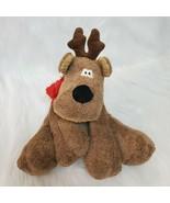 "10"" Hallmark Rodney Reindeer Plush w Red Scarf Holiday Xmas Beanbag Toy ... - $19.97"