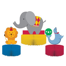 Circus Time 3 Shaped Honeycomb Centerpiece/Case of 18 - €40,57 EUR