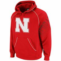 NWT New Nebraska Cornhuskers adidas Red Hoops Hooded Size Small Sweatshirt - $44.50