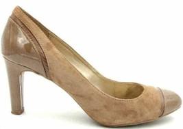Bandolino Women Cap Toe Pump Heels Levenham Size US 10M Brown Suede - $20.00