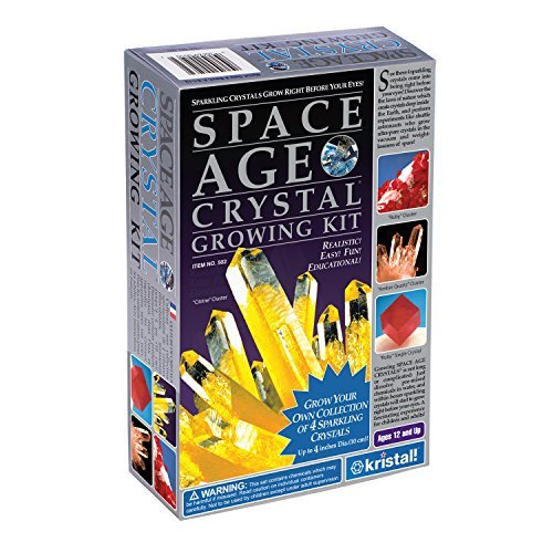 Space Age Crystal Growing Kit: 4 Crystals (Citrine, Ruby, Amber)