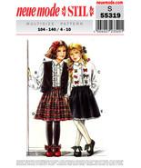 Vintage Neue Mode, Pattern S 55319, Girls Skirt, and Blouse Vest, Multi ... - $12.00