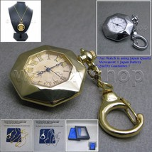 Antique Ladies Vintage Pocket Pendant Watch Key Chain Necklace Gift Box ... - $11.39