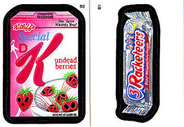 2013 Wacky Packages ANS10 **3 Racketeers & Special K**Both Bonus Stickers B1 & 2 - $2.99