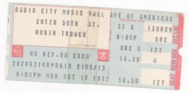 Rare ROBIN TROWER 10/17/77 NYC NY Radio City Music Hall Concert Ticket S... - $6.92