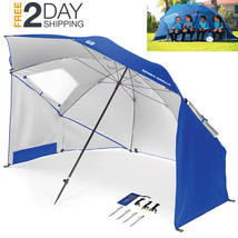 Large Umbrella Beach Chair Hold Sand Protection Sun Wind Shade Shelter P... - $62.99