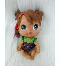 "6"" Baby Alive Crib Life Makayla Song Doll Retired 2010 Brown Hair Blue E... - $16.99"