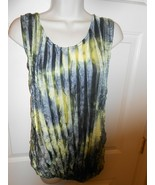 Heart 2 Heart ruffled sheer sleeveless Blouse Top size XL elastic Waist... - $8.42