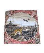 Cartier Écharpe Odyssey de Cartier 90 CM Soie Rose Panthère Motif Animal... - $479.81