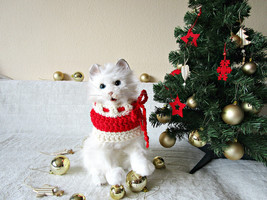 Cat Christmas scarf Dog Christmas scarf Pet costume Dog christmas scarf ... - $17.96