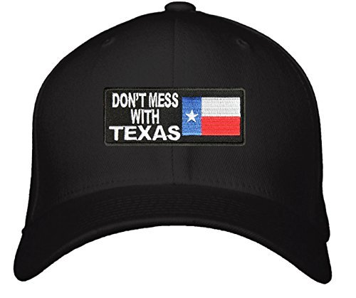 Don't Mess With Texas Hat - Adjustable Mens Black/Red/White/Blue