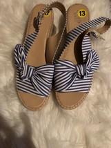 Franco Sarto Sandals Size 13 Blue/white - $26.72